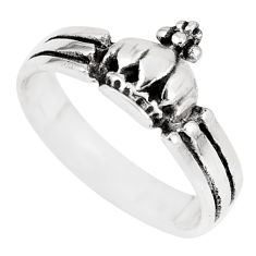 2.69gms indonesian bali style solid 925 silver flower ring size 6.5 c3566