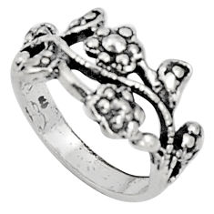 5.02gms indonesian bali style solid 925 silver flower ring size 6.5 c5223