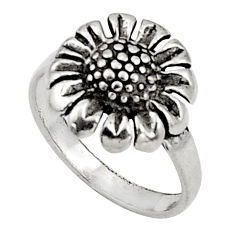 4.26gms indonesian bali style solid 925 silver flower ring size 7.5 c5239