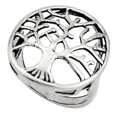 3.69gms indonesian bali style solid 925 silver tree of life ring size 5 c5240