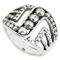 6.02gms indonesian bali style solid 925 solid silver ring size 5.5 c3634