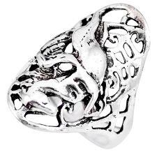 8.02gms indonesian bali style solid 925 sterling silver dragon ring size 7 c3567