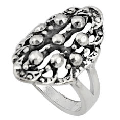 6.89gms indonesian bali style solid 925 sterling silver ring size 8 c5221