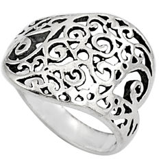 3.83gms indonesian bali style solid 925 sterling silver ring size 7.5 c5236