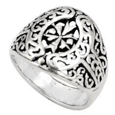 5.26gms indonesian bali style solid 925 sterling silver ring size 6.5 c5238