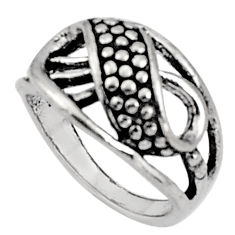 5.89gms indonesian bali style solid 925 sterling silver ring size 9 c5246