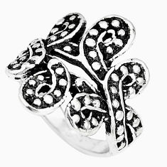 7.24gms indonesian bali style solid 925 sterling silver ring size 7 c5256