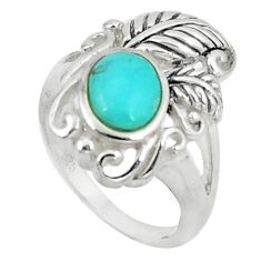 925 silver 2.76cts blue arizona mohave turquoise solitaire ring size 7 c10641