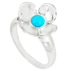 925 silver blue sleeping beauty turquoise flower ring size 9 a66638 c13553