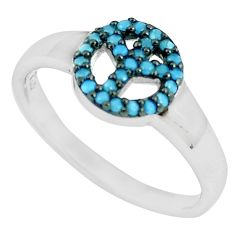 925 silver 0.72cts blue sleeping beauty turquoise solitaire ring size 7.5 c23398