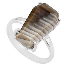 925 silver 7.66cts coffin solitaire natural imperial jasper ring size 7 t17412