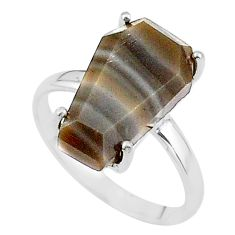 925 silver 7.68cts coffin solitaire natural imperial jasper ring size 7 t17420