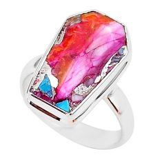 925 silver 6.26cts coffin spiny oyster arizona turquoise ring size 6 r93593