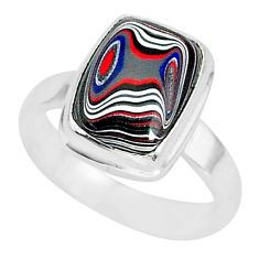 925 silver 4.42cts fordite detroit agate solitaire handmade ring size 7 r92840