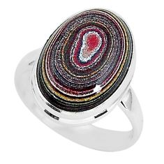 925 silver 7.51cts fordite detroit agate solitaire handmade ring size 8 r92815