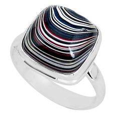 925 silver 7.60cts fordite detroit agate solitaire handmade ring size 9 r92808