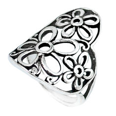 925 silver indonesian bali style solid flower ring jewelry size 5 c20420