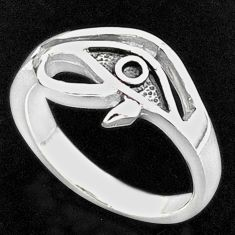 925 silver 4.02gms indonesian bali style solid horse eye ring size 7.5 t6280
