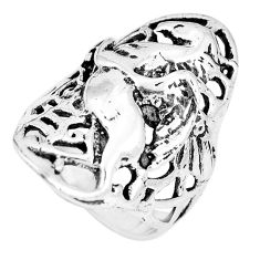 925 silver 8.02gms indonesian bali style solid horse ring size 7.5 c17093
