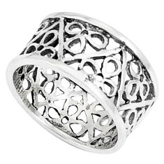 925 silver 3.48gms indonesian bali style solid plain ring size 5.5 c25875