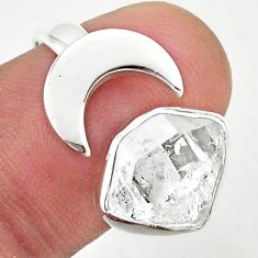 925 silver 5.36cts moon natural herkimer diamond adjustable ring size 8 t49356