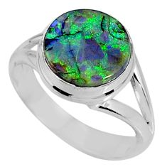 925 silver 3.85cts multi color sterling opal solitaire ring size 6.5 r62160