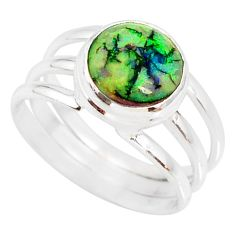 925 silver 4.21cts multi color sterling opal solitaire ring size 9 r76918