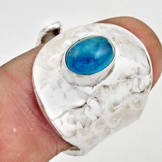 925 silver 2.24cts natural apatite (madagascar) adjustable ring size 6 r21233