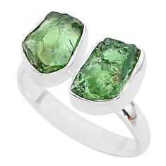 925 silver 8.94cts natural apatite (madagascar) adjustable ring size 8 t35017