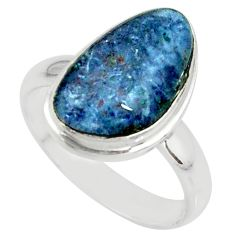 925 silver 4.84cts natural australian opal triplet solitaire ring size 7 r39316