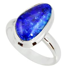 925 silver 6.02cts natural australian opal triplet solitaire ring size 9 r34269