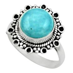 925 silver 5.45cts natural blue aquamarine solitaire ring jewelry size 8 r52639