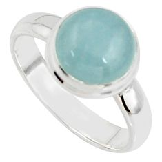 925 silver 5.58cts natural blue aquamarine solitaire ring jewelry size 9 r39789