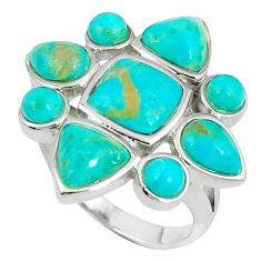 925 silver natural blue arizona turquoise ring jewelry size 8.5 c10637