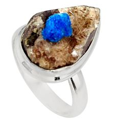Clearance Sale- 925 silver 7.88cts natural blue cavansite solitaire ring jewelry size 7 d39089