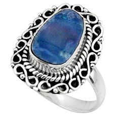 925 silver natural blue doublet opal australian solitaire ring size 7 r47305