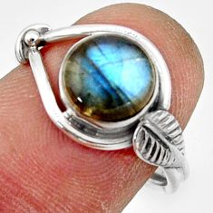 925 silver 3.06cts natural blue labradorite solitaire ring jewelry size 7 r41536