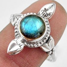925 silver 3.31cts natural blue labradorite solitaire ring jewelry size 9 r41593