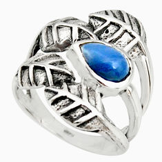 925 silver 2.19cts natural blue owyhee opal solitaire leaf ring size 7 r37077