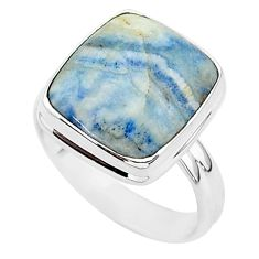 925 silver 5.63cts natural blue scheelite solitaire ring jewelry size 8 r95740