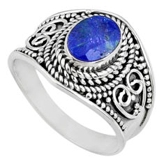 925 silver 2.02cts natural blue tanzanite faceted ring jewelry size 7.5 r60820