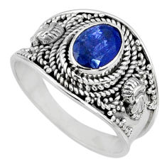 925 silver 2.09cts natural blue tanzanite faceted ring jewelry size 9 r60817