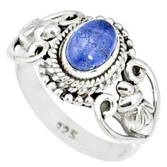 925 silver 1.55cts natural blue tanzanite solitaire ring jewelry size 6 r82376