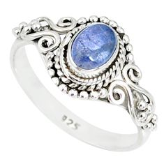 925 silver 1.48cts natural blue tanzanite solitaire ring jewelry size 9 r82379