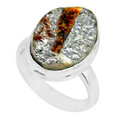 925 silver 7.49cts natural bronze astrophyllite solitaire ring size 6 r85933