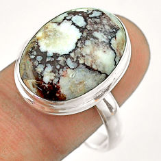 925 silver 14.26cts natural bronze wild horse magnesite ring size 11 t54294