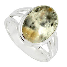 925 silver 5.08cts natural cacoxenite super seven solitaire ring size 8 r19340