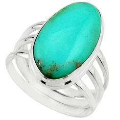 925 silver 13.24cts natural campitos turquoise solitaire ring size 8.5 r22194
