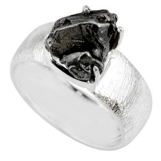 925 silver 6.89cts natural campo del cielo fancy solitaire ring size 9.5 r73513