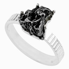 925 silver 5.84cts natural campo del cielo fancy solitaire ring size 8 r73520
